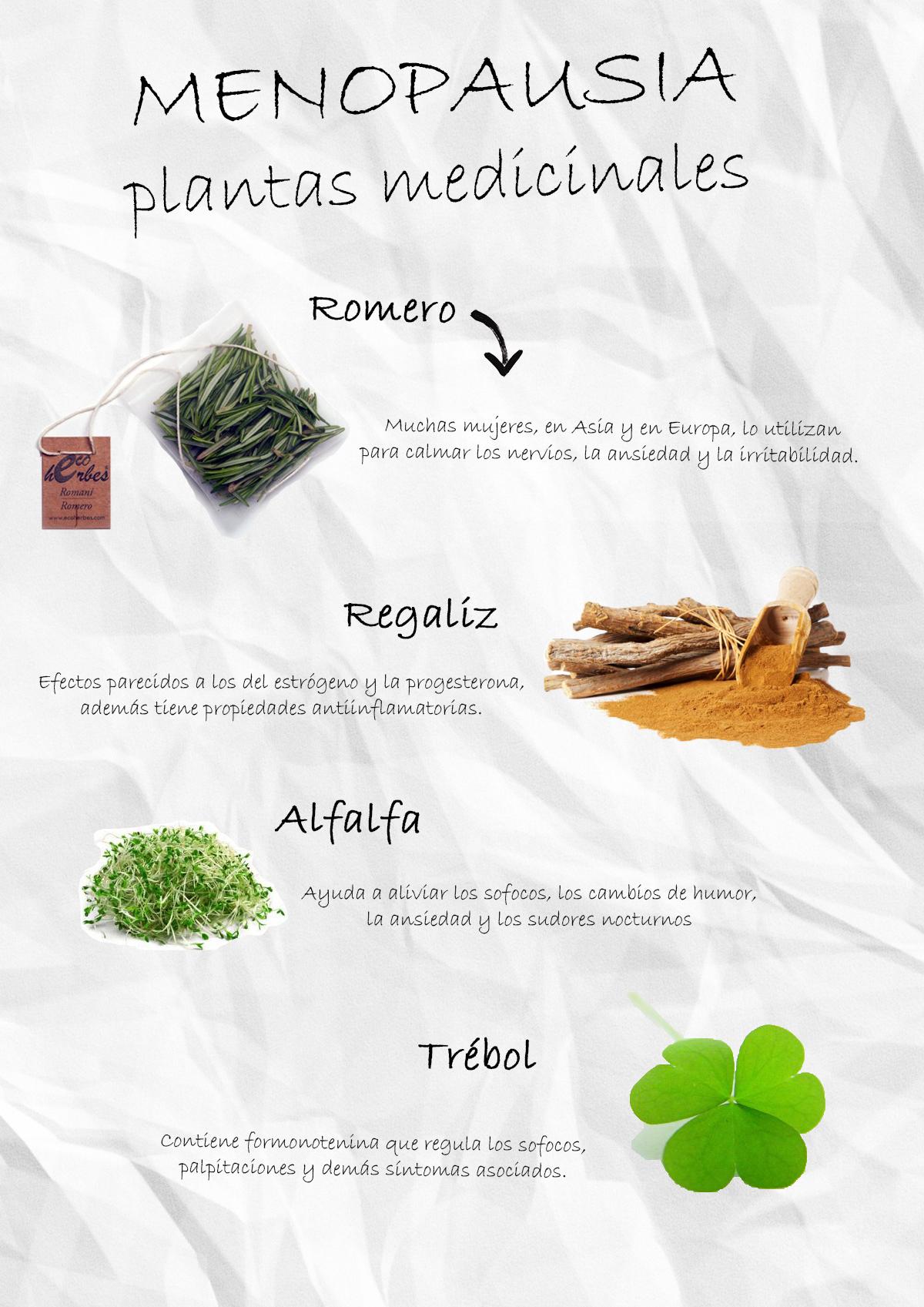 plantas medicinales en la menopausia